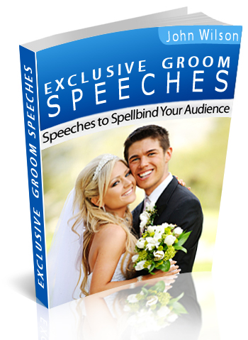 Groom speech book